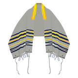 Isolated prayer shawl Stock Images
