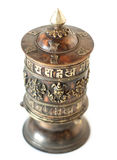 Isolated Prayer Wheel look from top and focus on middle part Stock Photo