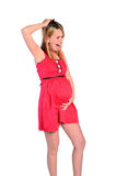 Isolated pregnant woman Royalty Free Stock Photo