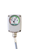Isolated pressure gauge control on white Stock Image