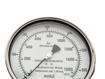 Isolated pressure and level gauge in cryogenic liquid gas supply Royalty Free Stock Images