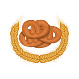 Isolated pretzel design Stock Image