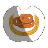 Isolated pretzel design Stock Photo