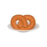 Isolated pretzel design Stock Photos