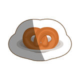 Isolated pretzel design Stock Photography