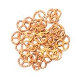Isolated pretzels pile Stock Photo