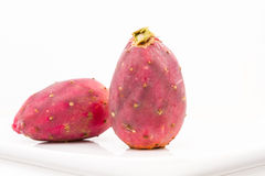 Isolated Prickly Pears On Plate Royalty Free Stock Photography