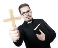 Isolated priest Stock Photos