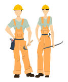 Isolated professional builders. Stock Images