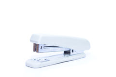 White stapler isolated on white background Royalty Free Stock Image