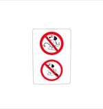Isolated prohibit sign for dog toilet wc Royalty Free Stock Photos
