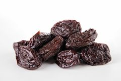 Isolated prune. Dried fruit, gourmet isolated prune Royalty Free Stock Photo