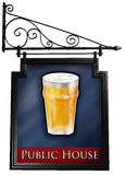 Isolated pub sign Stock Photography