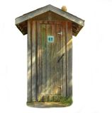 Isolated public restroom. Isolation of public restroom found in nature park royalty free stock photos