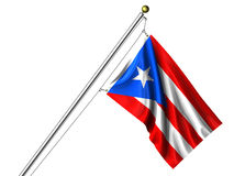 Isolated Puerto Rican Flag Stock Images