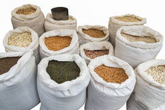Isolated Pulses in Bags. Isolated from various Pulses in bags Stock Photos