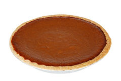 Isolated pumpkin pie Stock Photography
