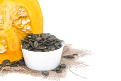 Isolated Pumpkin Seeds Royalty Free Stock Photos