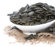 Isolated Pumpkin Seeds Royalty Free Stock Images