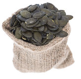 Isolated Pumpkin Seeds Royalty Free Stock Photo