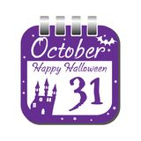 Halloween calendar sheet Stock Photo
