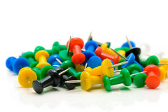 Isolated push pins Royalty Free Stock Photography