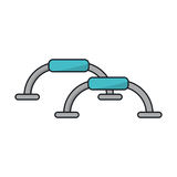Isolated push up bars of fitness gym Royalty Free Stock Photo