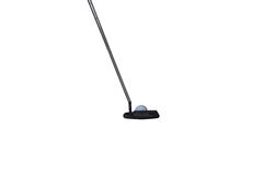 Isolated putter and golf ball Royalty Free Stock Photo