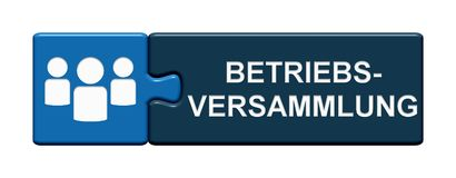 Puzzle Button: Works Meeting german stock illustration