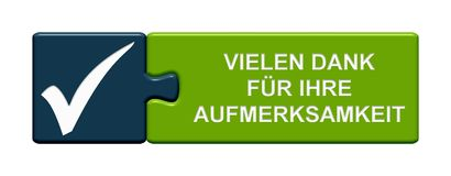 Puzzle Button: Thank you for your attention german Stock Photography