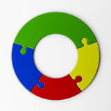 Isolated puzzle pieces to place concepts Royalty Free Stock Photo