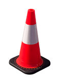 Isolated pylon. Isolated traffic cone orange pylon royalty free stock photography