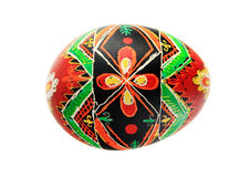 Isolated pysanka Easter egg Royalty Free Stock Photo