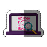 Isolated qr code and laptop design Stock Photos