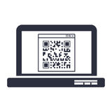 Isolated qr code and laptop design Royalty Free Stock Photo