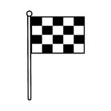 Isolated race flag. Icon vector illustration graphic design Royalty Free Stock Photography