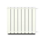Isolated Radiator. Illustration of white hot radiator Royalty Free Stock Images