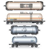 Isolated Railroad Oil Tanks. Illustration Stock Image