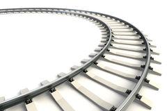 Isolated railway Stock Photography