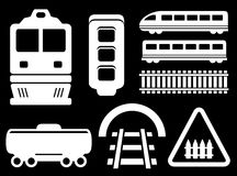 Isolated railway white objects set Stock Photography