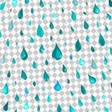 Isolated rain drops or steam shower,water falling pattern on transparent background,cartoon style,nature vector royalty free illustration