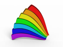 Isolated rainbow figures 3d render Royalty Free Stock Photography