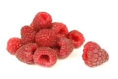 Isolated raspberries Stock Images