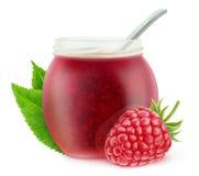 Isolated raspberry marmalade Royalty Free Stock Photo