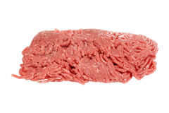 Isolated raw ground beef. On white background Stock Images
