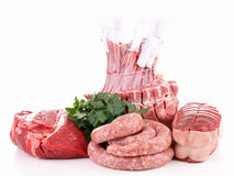 Isolated raw meat Stock Photos
