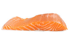 Raw salmon. Isolated Raw salmon on white background Royalty Free Stock Images