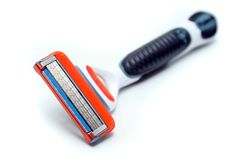 Isolated Razor. Close Up of Shaver on White Background Stock Photo