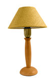 Isolated reading lamp. With woven abat-jour (shade Stock Image