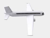 Isolated real airplane flight right side capture Royalty Free Stock Image